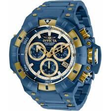 Invicta Men's Watch Akula Quartz Chronograph Blue and Yellow Gold Bracelet 31869