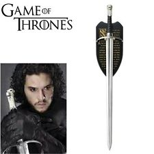 GAME OF THRONES LONGCLAW (HBO)THE SWORD OF JON SNOW w/FREE WALL PLAQUE Pre Order