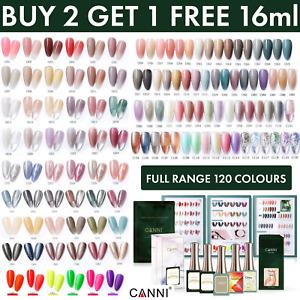 CANNI Nail Gel Polish UV LED 16ml Collection Varnish Base Top Colour Coat