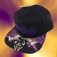 New DC Comics Joker Haha Mens Batman Embroidered Snapback Cap Hat