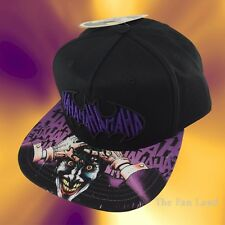 New DC Comics Joker Haha Mens Batman Embroidered Snapback Cap Hat