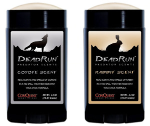 Conquest Scents Dead Run Package Coyote and Rabbit Predator Scent Sticks