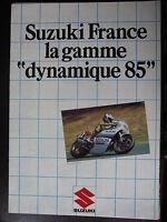 BROCHURE CATALOGUE  1985 MOTO POSTER GAMME SUZUKI   PROSPECTUS
