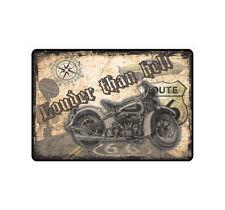 "Nota escudo Escudo nota ""Louder Than Hell"" bike Biker Chopper hellbike sos"