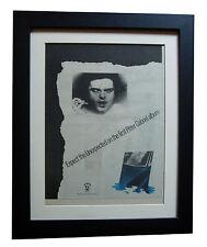 PETER GABRIEL+1st+Debut+Car+POSTER+AD+RARE+ORIGINAL 1977+FRAMED+FAST GLOBAL SHIP