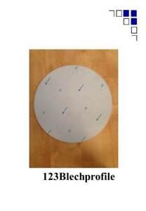 Schachtabdeckung rund bis Ø950mm Alublech Zuschnitte 1,1,5,2,3,4,5,6mmAlu