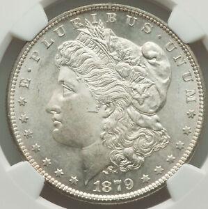 1879-S Rev of 1879 $1 Morgan Silver Dollar NGC VIGOROUS LUSTER NEAR GEM MS64