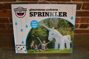 Big Mouth Toys Ginormous Unicorn Sprinkler  6 Feet Tall Shipped without Box