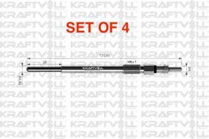 4 X HEATER GLOW PLUGS 11V FORD FIESTA MK5 MK6 FUSION 1.4 1.6 TDCI 2001- ONWARD
