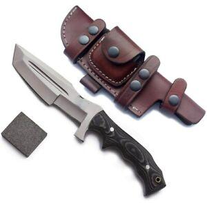 """CUSTOM HANDMADE D2 STEEL 12"""" TRACKER KNIFE, HUNTING KNIFE, SKINNER KNIFE, EDC"""