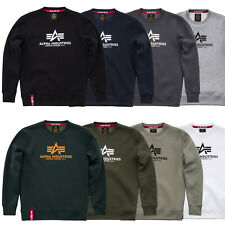 Alpha Industries Men's Sweater Basic Sweater MA1 Crew Neck S TO 3XL New