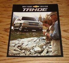 Original 2002 Chevrolet Truck Tahoe Sales Brochure 02 Chevy