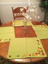 Set 4 Fall Place Mats Leaves Harvest By Tag Beautiful For Thanksgiving
