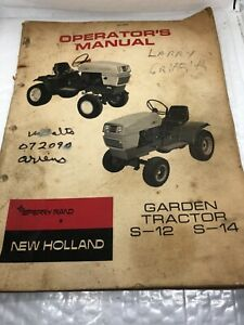1971 Sperry Rand New Holland S-12 S-14 Garden Tractor Operators Manual
