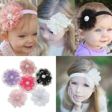 6pc Lovely Kids Baby Girls Toddler Lace Flower Headband Hair Band Headwear Acces
