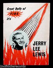 JERRY LEE LEWIS-Rare Autographed UK Concert Tourbook-Circa 1960-Rockabilly-SUN