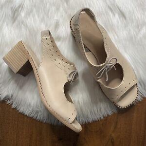 Anthropologie Women's Size 38 / US 8 Leather Clara Lace Open Toe Shootie Sandals