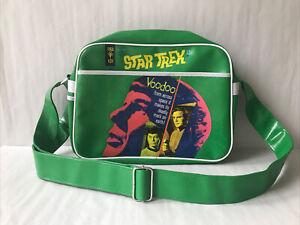 Gold Key Star Trek 'Voodoo' Green Messenger Shoulder Bag Retro Spock School Work
