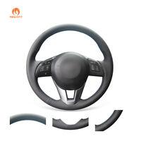 DIY PU Leather Steering Wheel Cover for Mazda 2 CX-5 CX-3 Mazda 3 Mazda 6 Scion