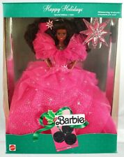 1990 Happy Holidays Black Barbie Doll Special Edition #4543 Mint in Box Mattel