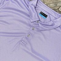 NEW PGA Tour 2XL XXL Purple White Check Polo Shirt Polyester Casual Golf Mens