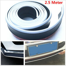 2.5M Rubber Car Bumper Skirts Strip Lower Lip Protector External Decoration Kit