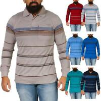 Herren Polo Shirt Langarm Longsleeve mit Brusttaschen Stretch M L XL XXL