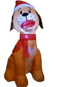 Holiday Time Airblown Inflatable Darling Dog 3.5 FT Never Used Outside!