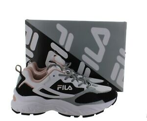 FILA Women's Recollector Athletic Sneaker Shoes - White/Black/Pink - Size 7