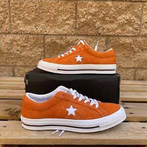 Converse One Star Ox Vintage Suede Bold Mandarin MEN'S CASUAL SHOE 161574C US8.5
