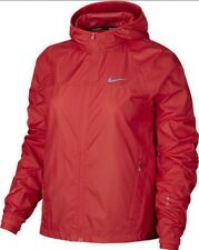New Women's Nike Shield Running Jacket. UK Size M - Red.