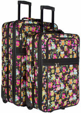 Cute Owl Expandable 2 pc Piece Luggage Set for Travel Soft Sided Check In