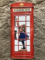 Harrods Dept Store Telephone Kiosk Metal Money Coin Bank Tin from London