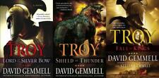 David Gemmell TROY Historical Fiction Series LARGE TRADE Paperback Set 1-3
