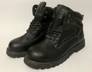 Coleman Workwear Mens 12 Work Safety Boots Black Mid Lace Up Steel Toe