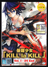 *NEW* KILL LA KILL *24 EPS*ANIME DVD*ENGLISH SUBTITLES*US SELLER*FREE SHIPPING!*
