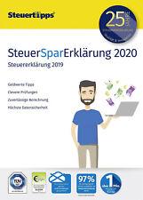 SteuerSparErklärung 2020 für Steuerjahr 2019 Deutsch PC Windows Steuererklärung