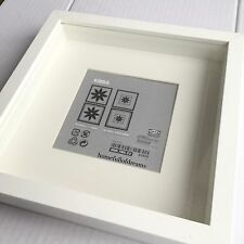 New Square Ikea Deep Shadow Box Photo Frame White 23cm x 23cm Scrabble Authentic