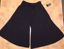 NWT Bloch Dance Black Self Tie Waist Culottes Gaucho Pants Ladies Sm Adult R9034