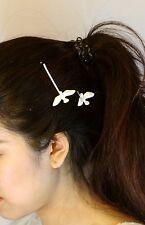 Epingle A Cheveux Deux Pigeon Blanc Artisanal Simple Retro