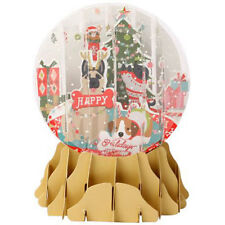 3D Pop Up Snow Globe Greetings Christmas Card - SWEATER DOGS - UP-WP-SGM-026