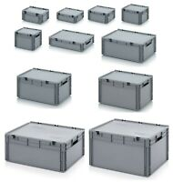 Portable Euro Stacking Plastic Tool Box Boxes Tool Storage Carry Cases–12 Sizes!