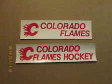CHL Colorado Flames Vintage Lot of 2 Bumper Stickers