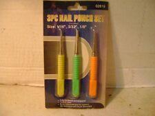 New 3 pc Nail Punch Set