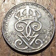 PIECE DE 1 ORE 1943 SUEDE SWEDEN EN FER . IRON (329)