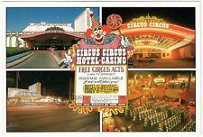 1990's Circus Circus Hotel & Casino Las Vegas Neon Multi View postcard Vintage L