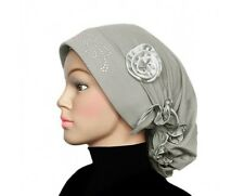 flower Bonnet TURBA NChemo cancer patient CAP  Beanie Stretchy cap headscarf