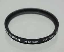 Super Albinar 49mm Cross Screen (4-Point Star) Special Effect Lens Filter