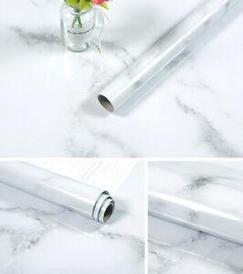 5m Marble Self Adhesive Wallpaper Kitchen Cupboard Worktop Cover Aluminum Foil