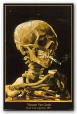 Vincent Van Gogh Poster Skull with Cigarette 1885 Wall Art Print Home Decor